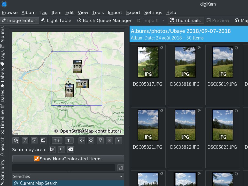 Find your images by selecting them over a map