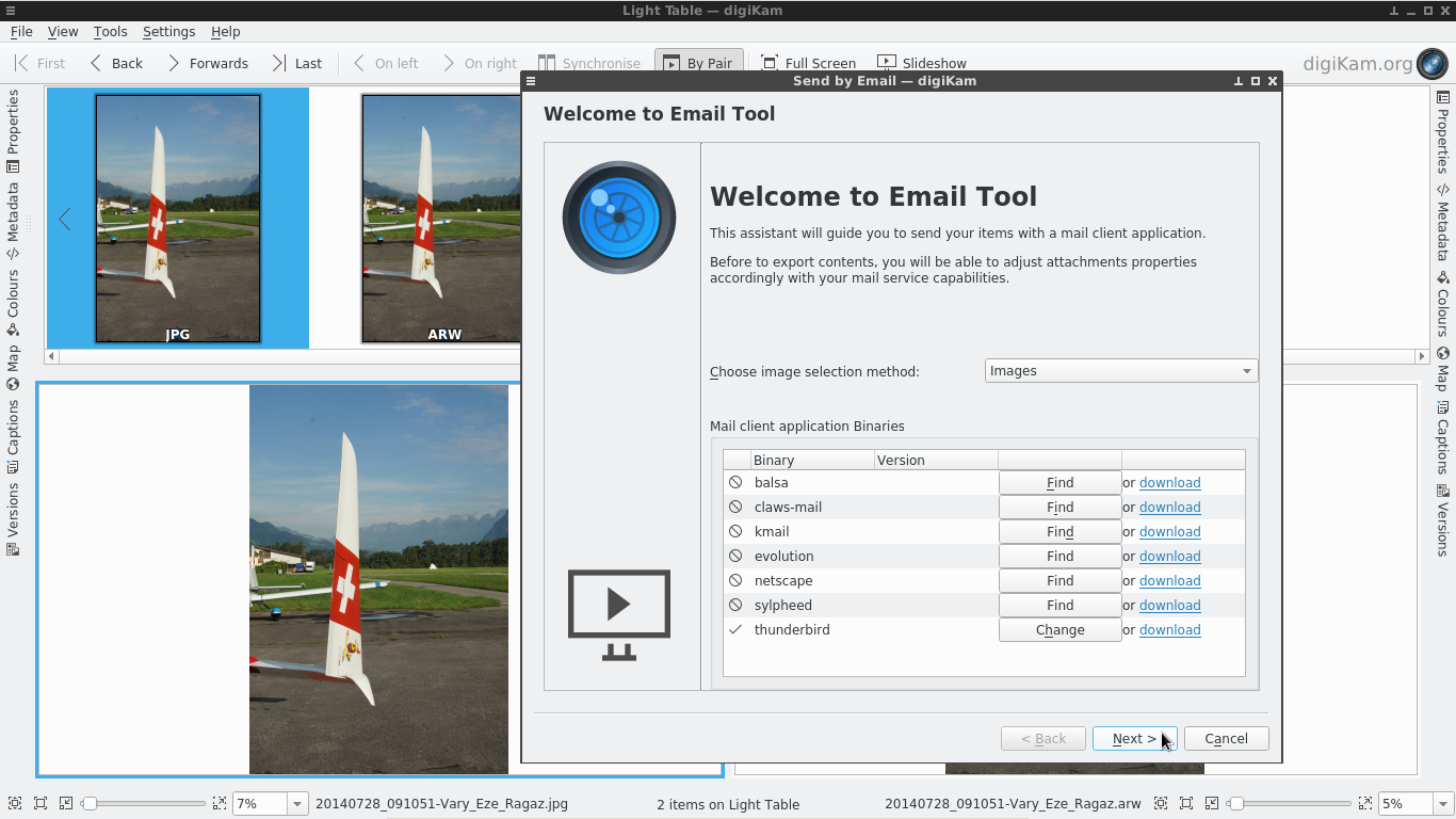 New tool for sending images by mail