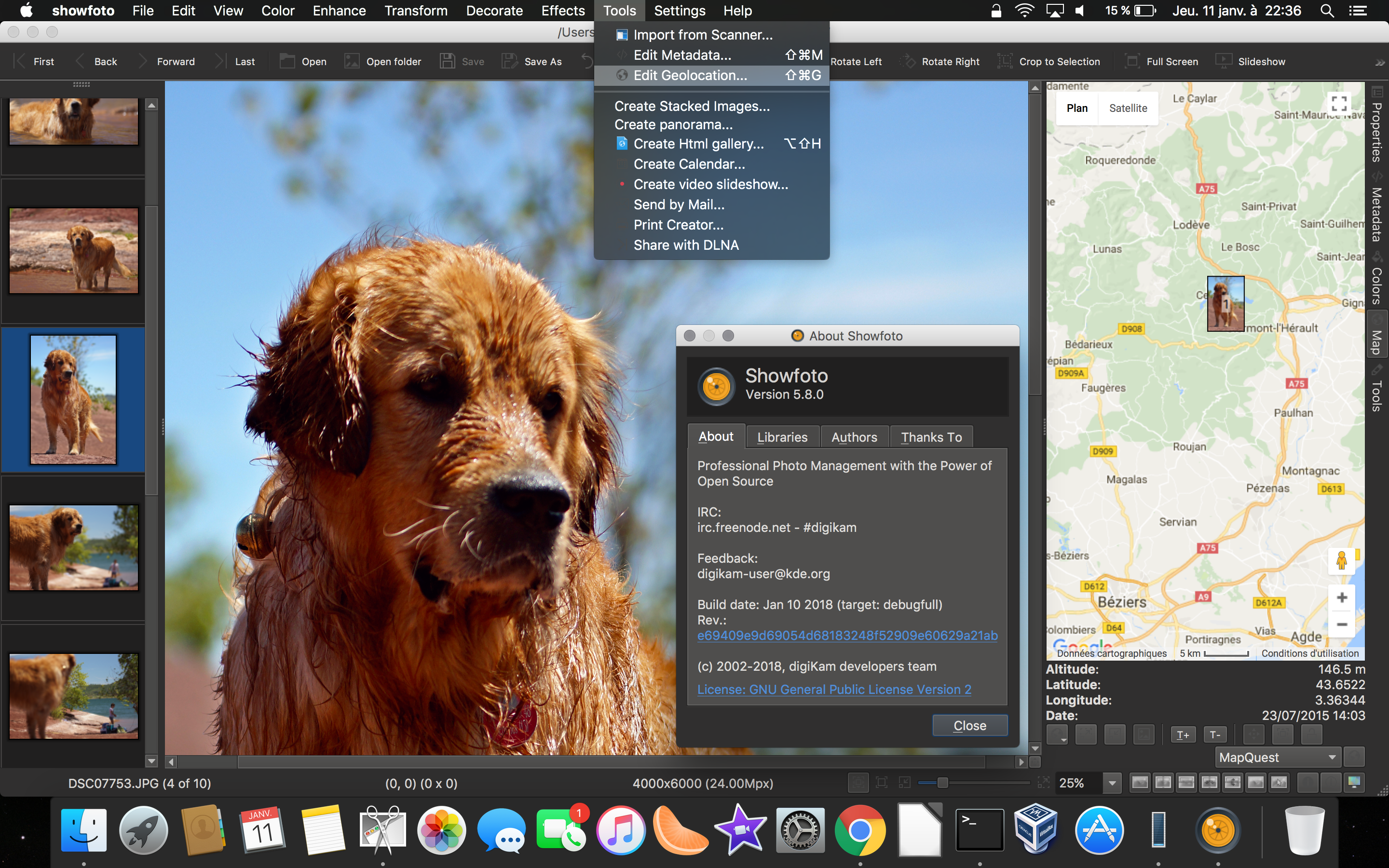 Showfoto Running Under MacOS