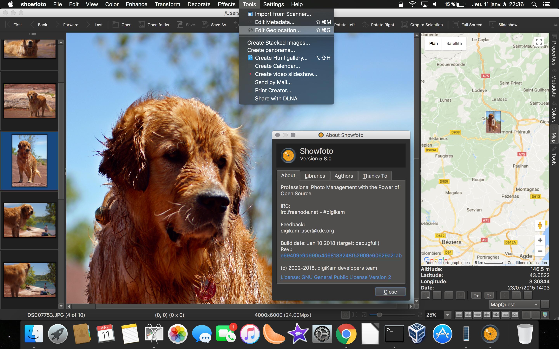 Showfoto Running Under MacOS